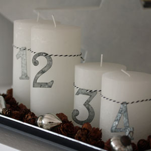 Advent Decorations with tin