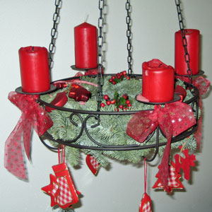 Christmas Decorations in red