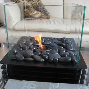 feuerstellen und tischkamine im wohnraum. Black Bedroom Furniture Sets. Home Design Ideas