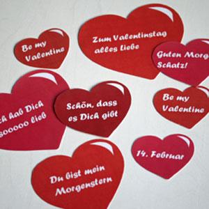 Valentinstag-Deko - DekoIdeen für den Valentinstag